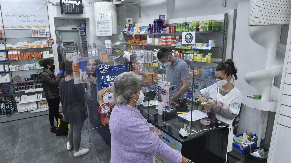 Espacio de venta, recorrido y gestión de colas en la oficina de farmacia
